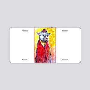 Sheep, cute, fun, Aluminum License Plate