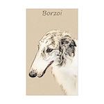 Borzoi Sticker (Rectangle 10 pk)