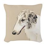 Borzoi Woven Throw Pillow