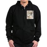 Borzoi Zip Hoodie (dark)