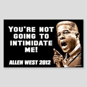 Allen West - Intimidate Sticker (Rectangle)