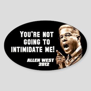 Allen West - Intimidate Sticker (Oval)