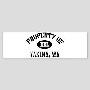 Property of Yakima Bumper Sticker