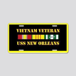 USS New Orleans Aluminum License Plate
