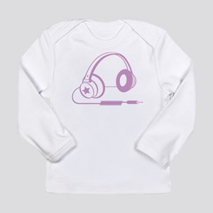Pink Headphone Long Sleeve Infant T-Shirt