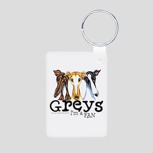 Greys Fan Funny Aluminum Photo Keychain