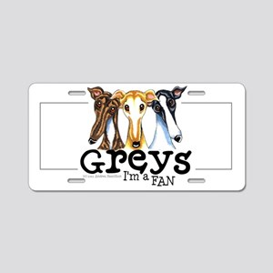 Greys Fan Funny Aluminum License Plate
