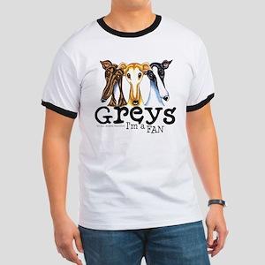 Greys Fan Funny Ringer T