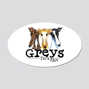 Greys Fan Funny 22x14 Oval Wall Peel