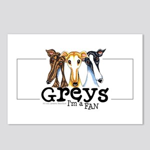 Greys Fan Funny Postcards (Package of 8)