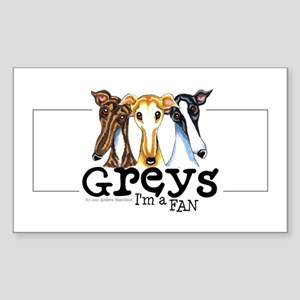 Greys Fan Funny Sticker (Rectangle)