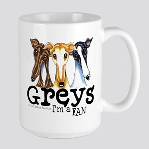 Greys Fan Funny Large Mug