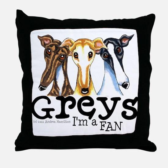 Greys Fan Funny Throw Pillow