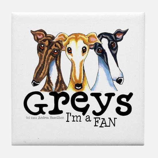 Greys Fan Funny Tile Coaster