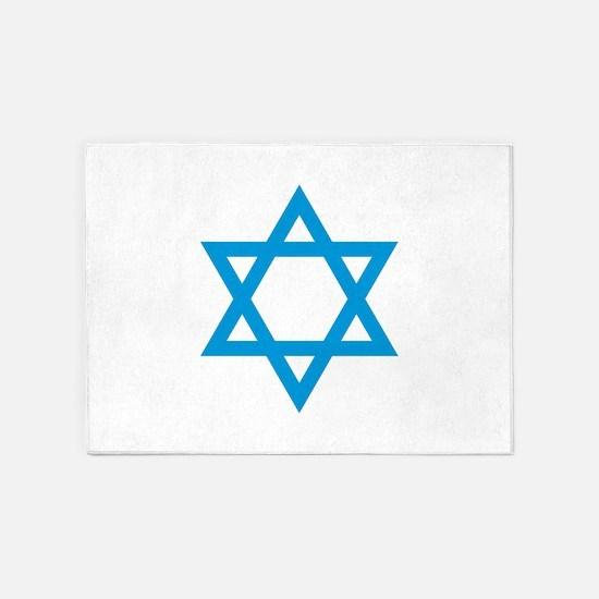 Israel - Star of David 5'x7'Area Rug