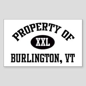 Property of Burlington Rectangle Sticker
