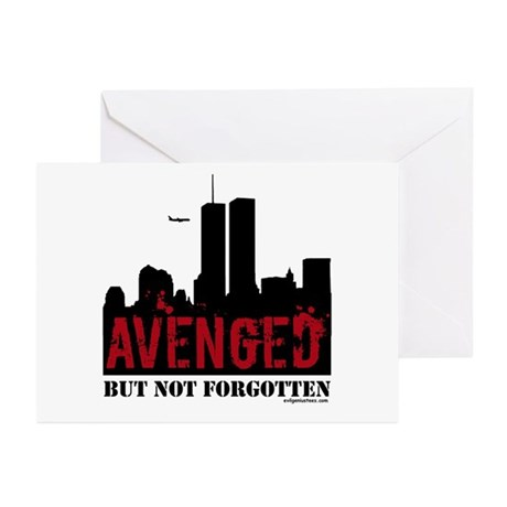 9/11 avenged not forgotten Greeting Cards (Pk of 1