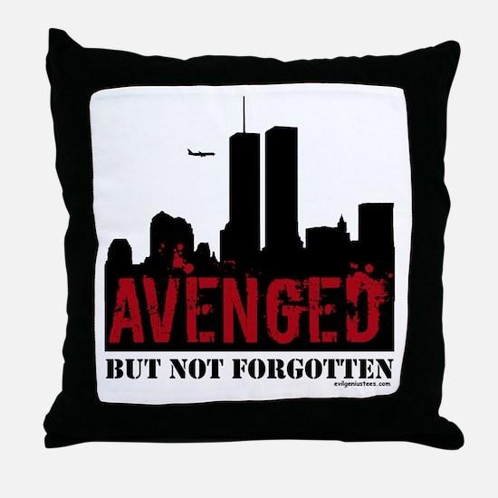 9/11 avenged not forgotten Throw Pillow