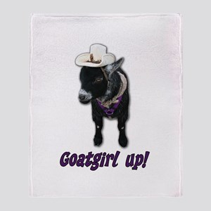 Pygmy Goat Girl Up Throw Blanket