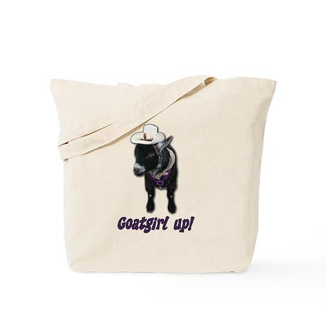 Pygmy Goat Girl Up Tote Bag