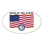 Rock of the Marne Oval Sticker