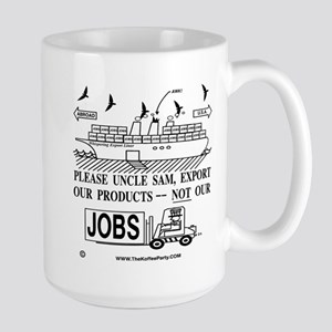 Large Mug Protesting Outsourcing Our Jobs