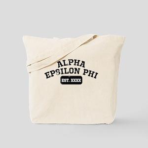 Alpha Epsilon Phi Athletic Personalized Tote Bag