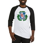 stop waste recycle Baseball Jersey