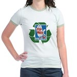 stop waste recycle Jr. Ringer T-Shirt