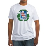 stop waste recycle Fitted T-Shirt