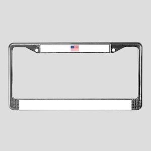 American Flag License Plate Frame