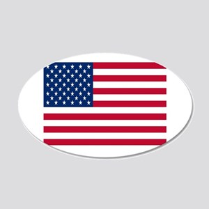 American Flag 22x14 Oval Wall Peel