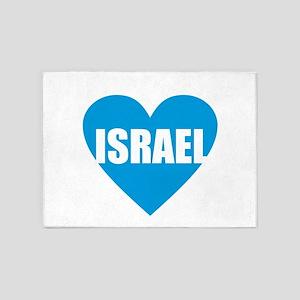 Israel - Blue Heart 5'x7'Area Rug