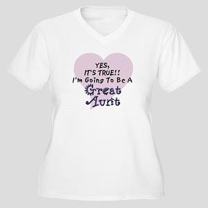 True Aunt To Be Women's Plus Size V-Neck T-Shirt