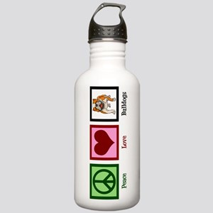 Peace Love Bulldogs Stainless Water Bottle 1.0L
