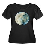 polar bears Women's Plus Size Scoop Neck Dark T-Sh