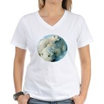 polar bears Women's V-Neck T-Shirt