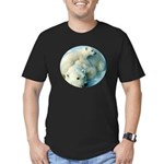 polar bears Men's Fitted T-Shirt (dark)