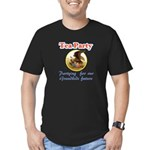 tea party eagle Men's Fitted T-Shirt (dark)