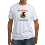 tea party eagle Fitted T-Shirt