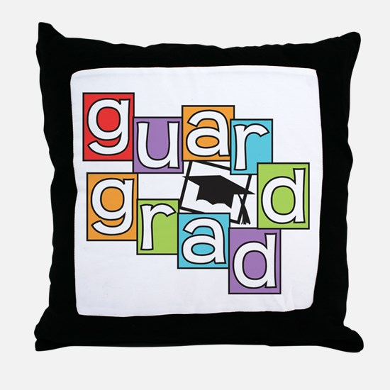 Guard Graduate Throw Pillow
