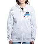 dump obama 2012 Women's Zip Hoodie