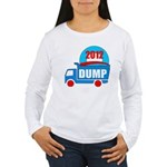 dump obama 2012 Women's Long Sleeve T-Shirt