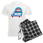 dump obama 2012 Men's Light Pajamas