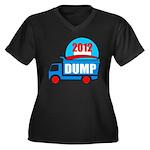 dump obama 2012 Women's Plus Size V-Neck Dark T-Sh