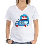 dump obama 2012 Women's V-Neck T-Shirt