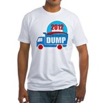dump obama 2012 Fitted T-Shirt
