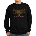 40th birthday cougar born Sweatshirt (dark)