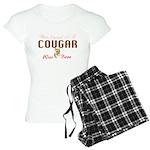 40th birthday cougar born Women's Light Pajamas