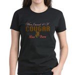 40th birthday cougar born Women's Dark T-Shirt